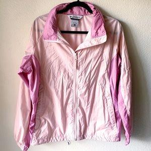 Columbia Pink Nylon Windbreaker Jacket With Hood